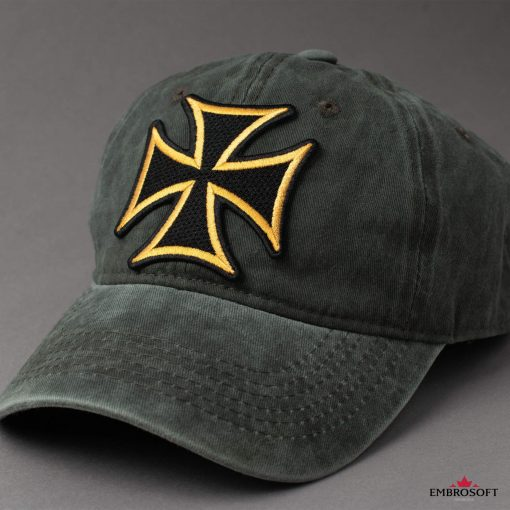 Cross with yellow border for a cap