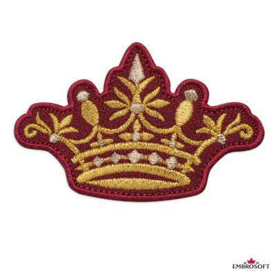Crown on a Red Background patch
