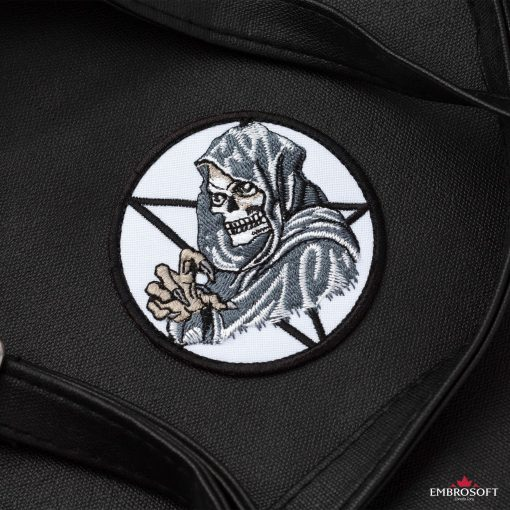 Embroidered Death for backpack