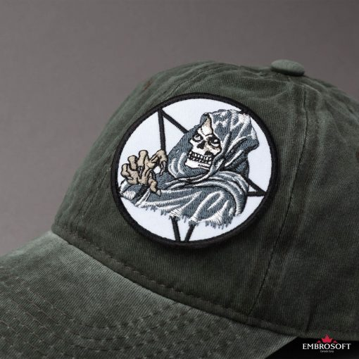 Embroidered Death for cap