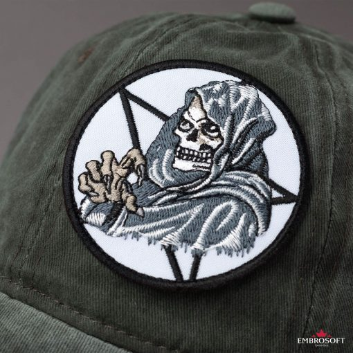 Bikers patch Death in a circle