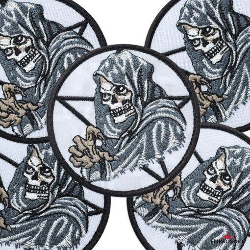 Embroidered Death skull for jacket