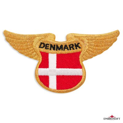 The flag of Denmark embroidered patch