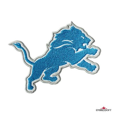 Detroit Lions embroidered emblem for jackets