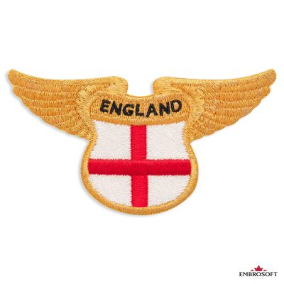 The flag of England embroidered patch