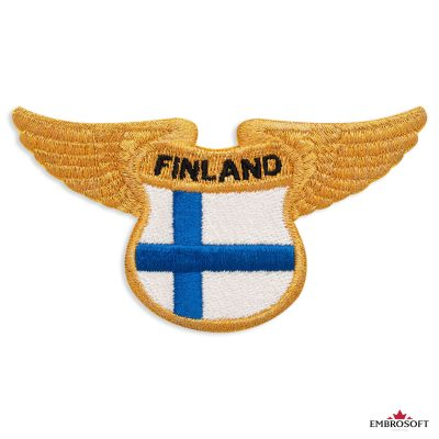 The flag of Finland embroidered patch