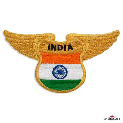 The Indian flag embroidered patch