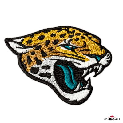 Jaksonville Jaguars embroidered logo for jackets