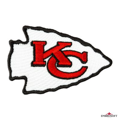 Kansas City Chiefs logo embroidered sports patch