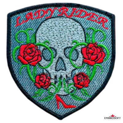 Lady Rider embroidered patch