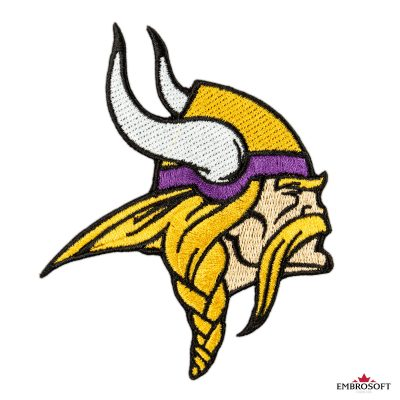 Minnesota Vikings logo embroidered patch