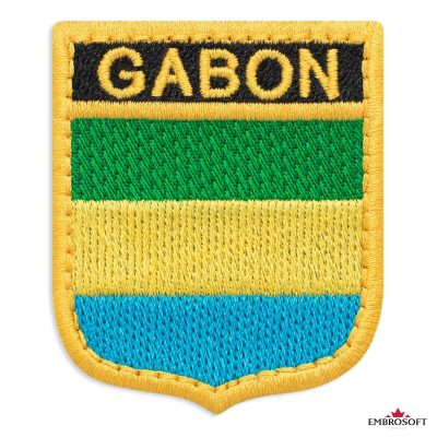 The flag of Gabon embroidered patch