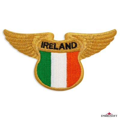 The flag of Ireland embroidered patch