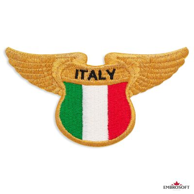 The flag of Italy embroidered patch