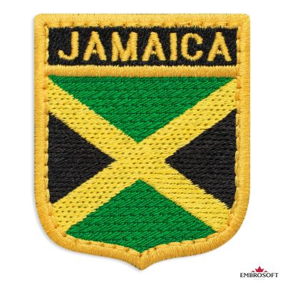 The flag of Jamaica embroidered patch