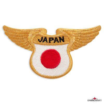 The flag of Japan embroidered patch