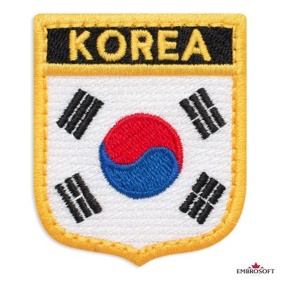 The flag of Korea embroidered patch