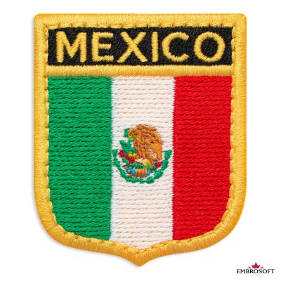 The flag of Mexico embroidered patch