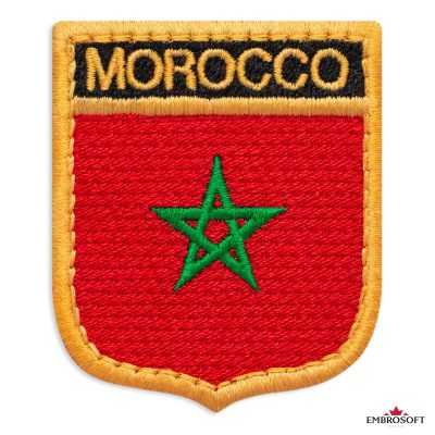 The flag of Morocco embroidered patch