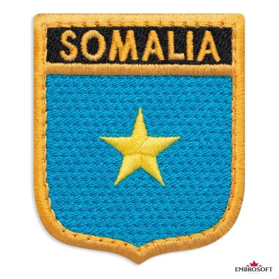 The flag of Somalia embroidered patch