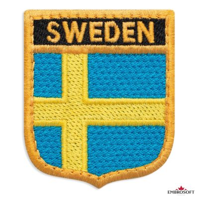 The flag of Sweden embroidered patch