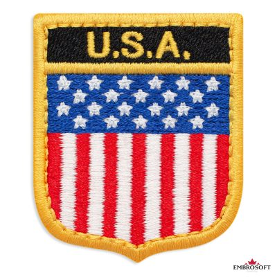The flag of USA embroidered patch