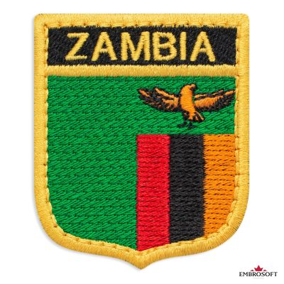 The flag of Zambia embroidered patch