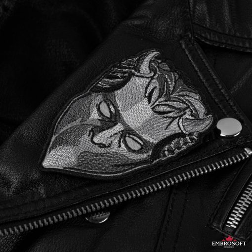 ghost mask Leather Jacket