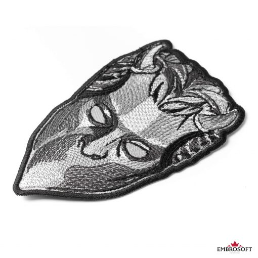 Rock band ghost embroidered mask