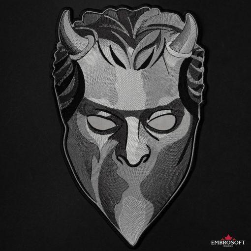 ghost mask large frontal black background