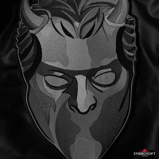 ghost mask large leather