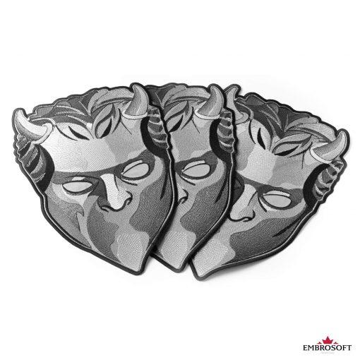 ghost mask medium collage