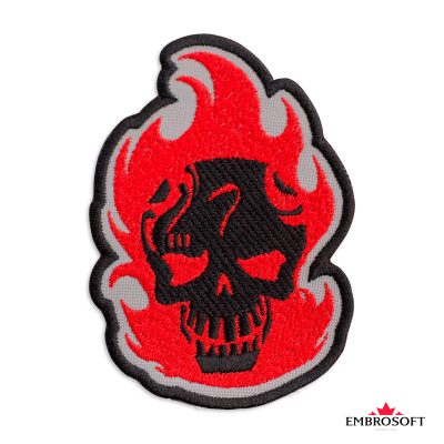 Embroidered suicide squad el diablo frontal photo
