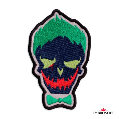 Embroidered suicide squad joker frontal photo