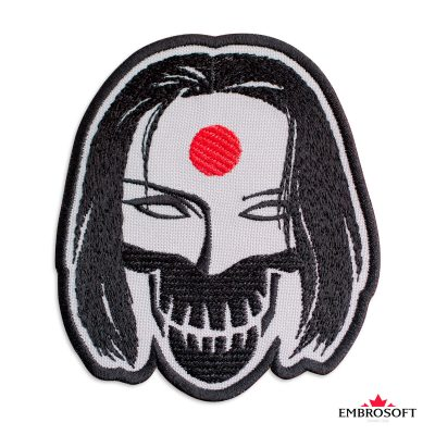 Embroidered suicide squad katana frontal photo