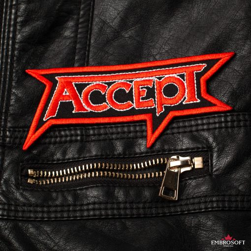 Accept Leather Jacket patches emblem for clothes