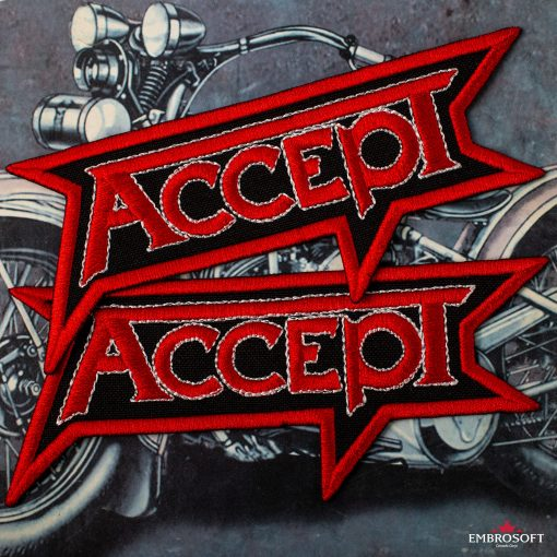 Accept logo patch for bikers and motorcycle