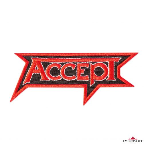 Accept red logo rock music patch frontal