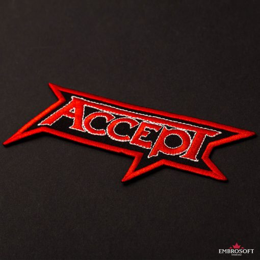 Accept rock band logo embroidered patch