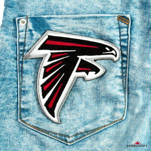 Atlanta Falcons back pocket jeans patch
