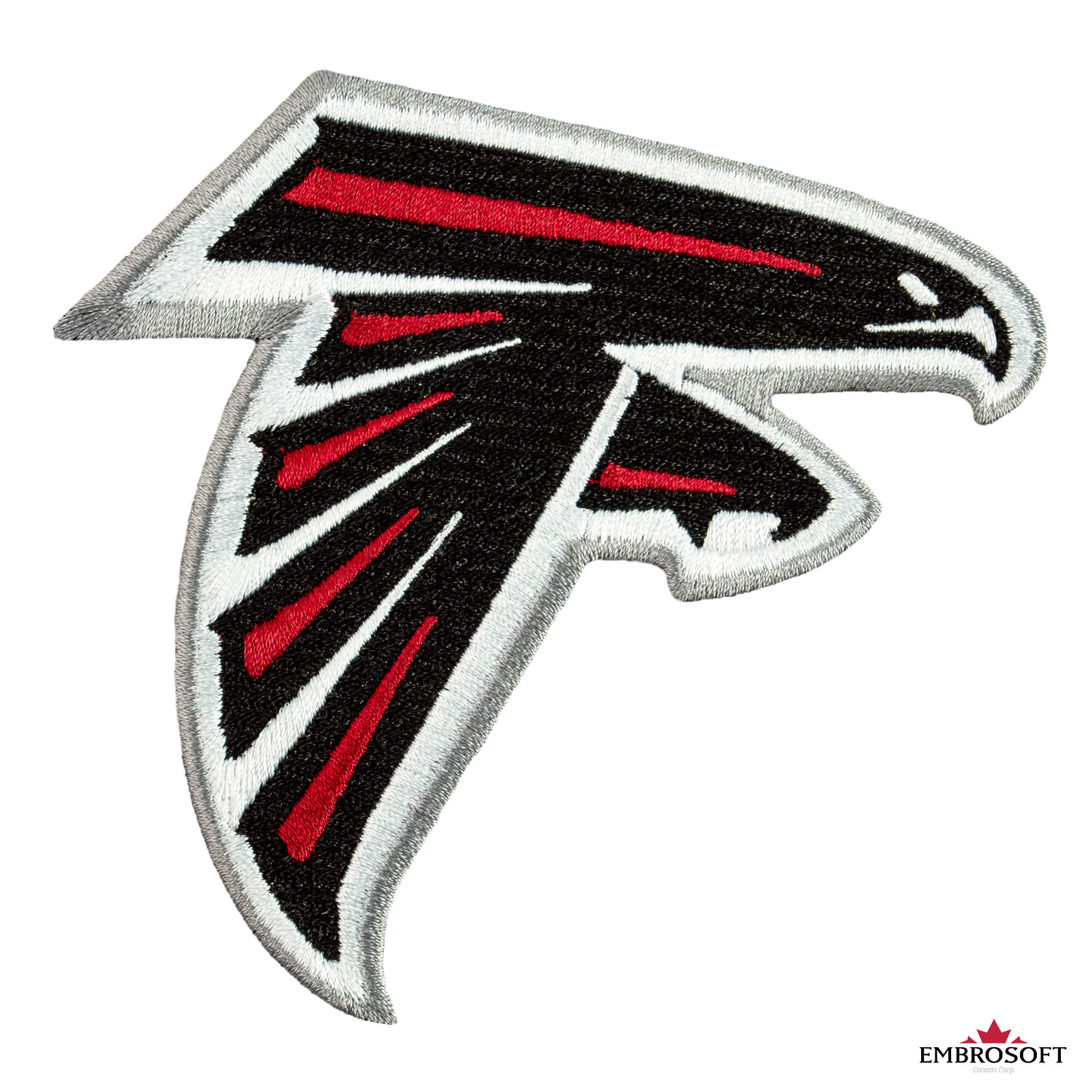 Atlanta Falcons Patch Nfl Sports Team Logo Size 3 7 X 3 5 Inches Embrosoft