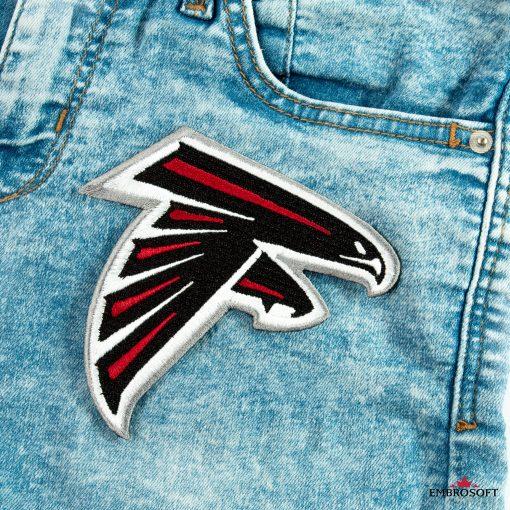 Atlanta Falcons jeans front pocket embroidery