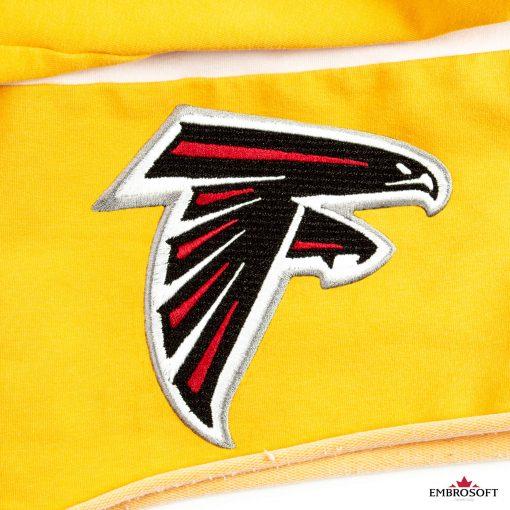 Atlanta Falcons patch logo for a yellow jacket