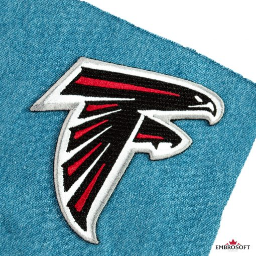 Atlanta falcons nfl team logo on a jeans