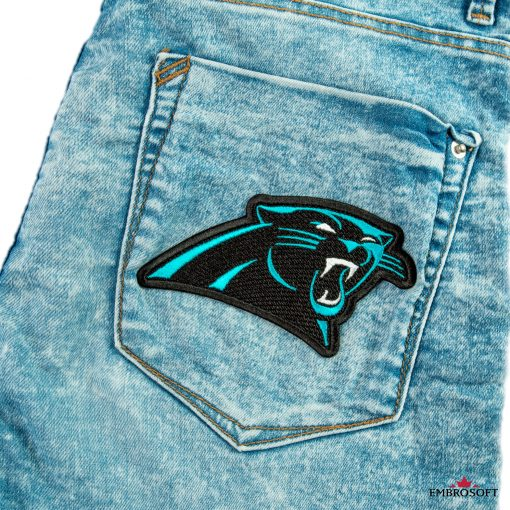 Carolina Panthers jeans back pocket embroidery