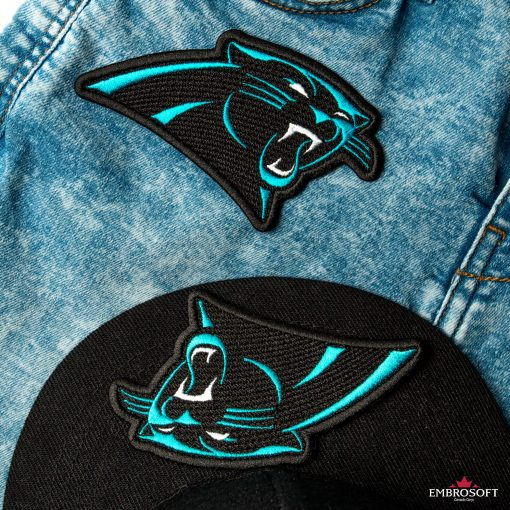 Carolina Panthers logo patch for jeans and caps