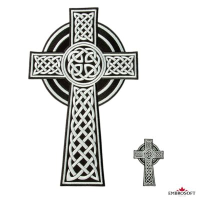 Celtic Cross embroidered patches for clothes