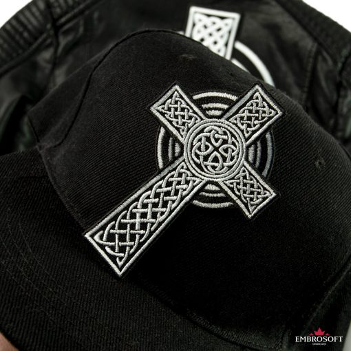 Celtic Cross ethnic patch for caps