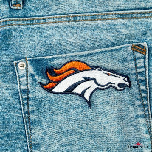 Denver Broncos back pocket jeans patch