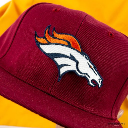 Denver Broncos cap and hoody embroidered patches